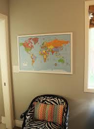 DIY Framed Map Corkboard Project