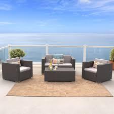 4 piece wicker set. Contemporary Set 4Piece Outdoor Wicker Sofa Set View Larger With 4 Piece Set R