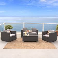 4 piece outdoor wicker sofa set view larger