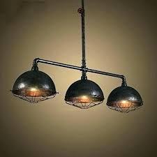 black pipe chandelier lighting industrial vintage retro linear designed wide metal hanging iron lights diy lamp