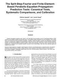 pdf parabolic wave equation method applied to the tropospheric ducting propagation problem a survey