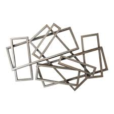 metal rectangles wall decor wall sculptures moe s whole