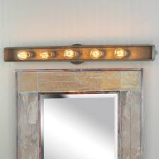 stunning rustic vanity lights for bathroom in inspirations 6 rustic bathroom vanity lights75 lights