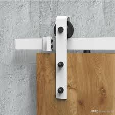 2018 diyhd 5ft 6ft 8ft rustic white sliding barn door hardware modern barn wood door hanging track kit from diyhd 55 28 dhgate
