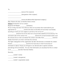 Business Letter For Cancelling A Contract Professional Resume Cv Maker