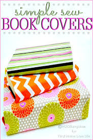 simple sew book covers when christine and i were talking about a diy fabric