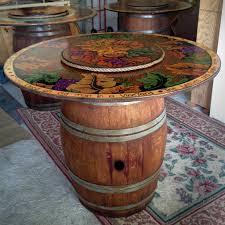 Wine Barrel Kitchen Table Kitchen Ideas Decor Wine Barrel Table Base Home Design Ideas