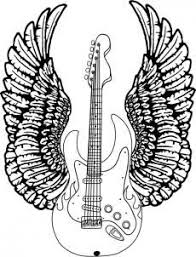 How To Draw A Guitar With Wings Step 8 Printable Rysunki