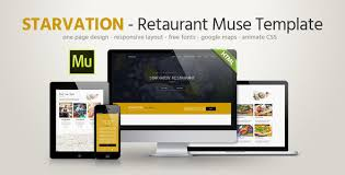 Muse Website Templates Awesome Starvation Restaurant Responsive Muse Template By Fadeink