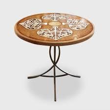 Magnifique table bistrot ronde nervure de feuilles stylisées | Etsy