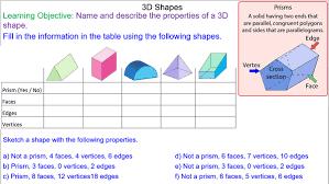 3d Shapes And Prisms Mr Mathematics Com
