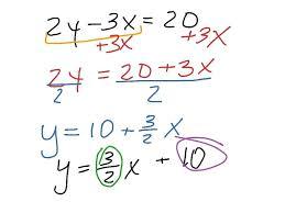 standard form equation standard form equation of each parabola