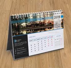 desk calendar template for 2016