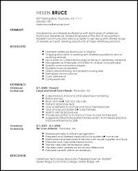 Veterinary Technician Resume Techtrontechnologies Com