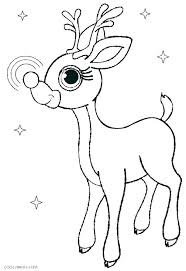 Reindeer Coloring Sheets Pages Footage Page The Red Nosed Christmas