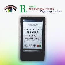 Eye Chart Machine Led Optical Visual Chart Lamp House Optometry Tester Mini Vision Chart 12 Inches