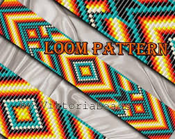 Bead Loom Patterns Best Loom Cuff Pattern Bead Loom Pattern Seed Bead Pattern For