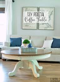dining table turned diy pedestal coffee table with a few diy tricks take a thrift
