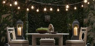 Outdoor strand lighting Event Space String Lights Restoration Hardware String Lights Rh