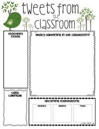 Free Teacher Newsletter Templates Classroom Newsletter Templates School Stuff Pinterest