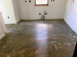 the floor is prepped for vinyl tile installation