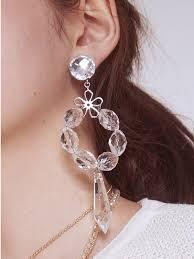 crystal chandelier earring white white white white