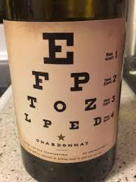 Joel Gott Eye Chart Chardonnay