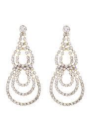 riah fashion teardrop chandelier earrings front cropped image