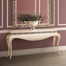 cream console table. Luxury Cream And Silver Console Table N