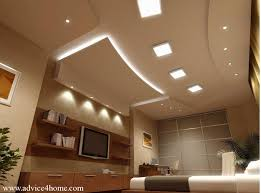 Small Picture false ceiling design and TV wall design with shelves in living