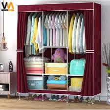 fashion wardrobe organizer clothes storage 88105 105 2 red