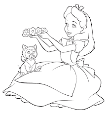 Small Picture Alice In Wonderland Coloring Pages GetColoringPagescom