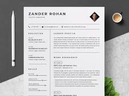 Clean Modern Resume Clean Resume Template By Resume Templates Dribbble Dribbble