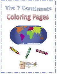 Small Picture The 7 Continents Coloring Pages Discovering Homeschool Social