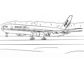 Small Picture Boeing 767 Airplane Coloring Page Transportation Printable