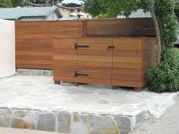 garbage can storage outdoor trash can storage cabinet garbage can enclosure storage cabinet for trash brown garbage can storage