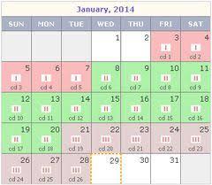 Rhythm Method Calendar View Rhythm Method Long Menstrual