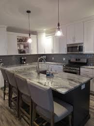 Modern Farmhouse Kitchen Remodel White Shaker Cabinets Gray