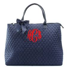 Monogram Quilted Tote Bag Large Personalized by fourbugsinarug ... & Monogram Quilted Tote Bag Large Personalized by fourbugsinarug Adamdwight.com