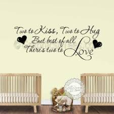 nursery wall sticker for twins baby boys girls bedroom wall decor two to love wall quote on vinyl wall art quotes for nursery with fairy wall stickers i believe in fairies bedroom nursery wall