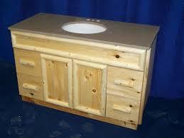 inspiring handmade knotty pine rustic bathroom vanity by fbt sawmill at cabinets