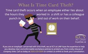 Timecard Ca Time Theft To Businesses Time Card Theft Kcy At Law