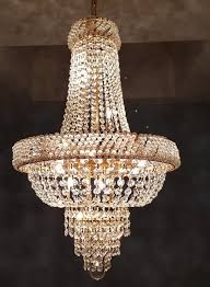 crystal chandelier with led lighting from the early 21st century