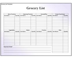 Grocery List Prices Sample Grocery Lists Sociallawbook Co