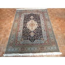 7 x hand knotted navy blue oriental rug area rugs