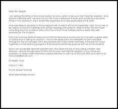 recommendation letter for professor teacher assistant re mendation letter best ideas of how to write