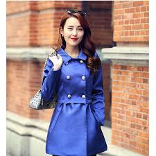 europe 2017 new fashion trench coat women long sleeve double ted coat slim polyester turn