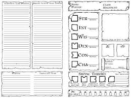 dungeons and dragons character sheet online character sheets dysons dodecahedron