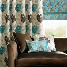 Furnishings at Nicholls curtain with matching cushions and blind