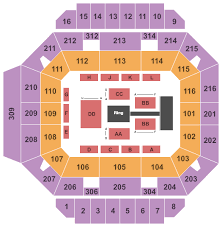 Wwe Live Seating Chart Diddle Arena Seating Charts For All 2019 Events
